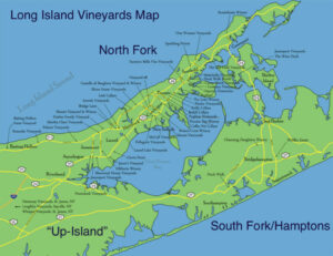 long island vineyards map